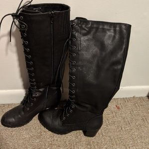 Just Fab Lace Up boots